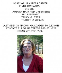 "Posted by Kari Fisher of the  ""Missing Truck Driver Alert "" Page on Facebook and Twitter"