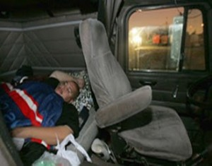 Driver in Sleeper Berth courtesy of www.aaat.com
