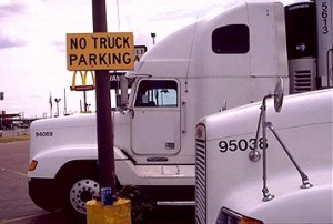 No Truck Parking- A common sign within the Industry