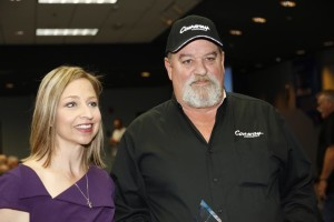 Kevin Kimmel received the Harriet Tubman Award from Mark Brown, TAT Board president, and Kylla Lanier, TAT deputy director, at a special ceremony at Con-way Truckload's headquarters in Joplin, Missouri on the morning of April 3. SOURCE Truckers Against Trafficking