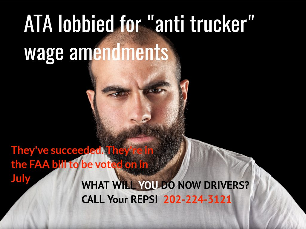 As ATA pushes to keep driver wages down. What will you do drivers?